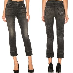 Hudson high rise Zoeey ankle crop jeans TNT wash